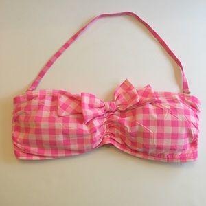 Juicy Couture Pink Gingham Bandeau Bikini L